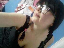 Me with plaits in my hair. by MonkeyMunchkinn