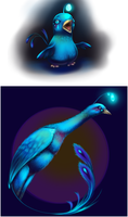 Blue Night Phoenix by AuldBlue
