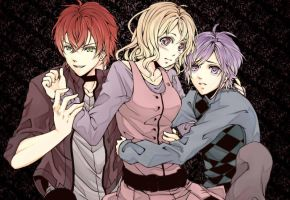 Diabolik Lovers - Ayato, Kanato, and Yui by Re-de-Luce