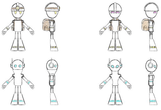 Mood to draw robots - sketches by Xyotic