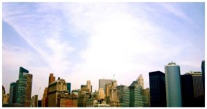 Manhattan Skyline by yannkd