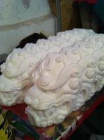 Komainu mask production by missmonster