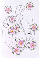 flowers tattoo design new by WillemXSM