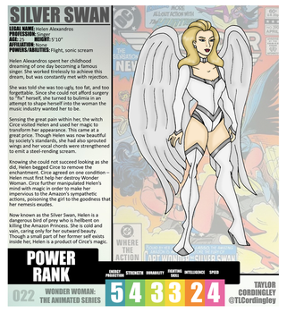 Wonder Woman TAS - Silver Swan Redesign Profile by Femmes-Fatales