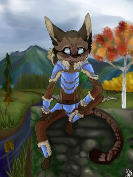 A Khajiit Commission by Friffin