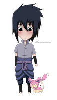 Prize: Chibi Sasuke and Skitty by miiChaneko