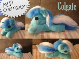 MLP Chibi Colgate Plush   own Pattern by LeoLilie