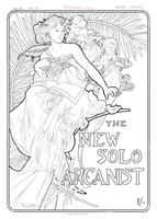 New Solo Arcanist lineart by Asraniel