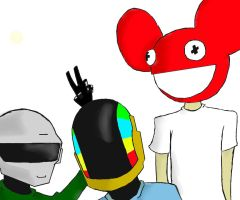 DaftMau5 by The-Mad-March-Hare