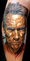 clint eastwood by tat2istcecil