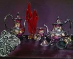 Still life with Red Glass by AnnetteJimerson
