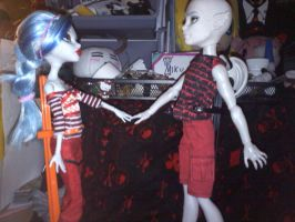 Monster High Zekeal meets Ghoula by Yagami2010