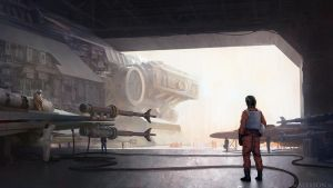Star Wars hangar by alexson1