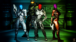 An Asari Combat Family ... by ExGemini