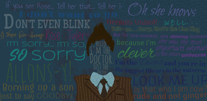 10th Doctor Collage by DoctorWhoLuv