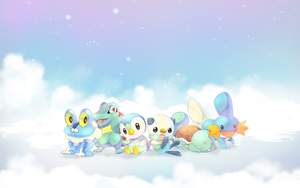 Water Starters Wallpaper by ehbi