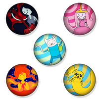 Adventure Time Button Set by Makksim