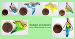 Budgie Pendants - Selection Limited by Bittythings