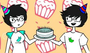 Homestuck happy birthday by littlemissbubbles