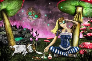 Alice in Wonderland Steampunk by Nonsense-Prophet