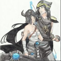 Tryndamere and Ashe by ShiaTheNeko