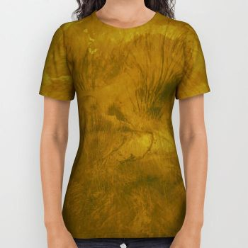 Golden-ostrich-all-over-print-shirts by JabLab