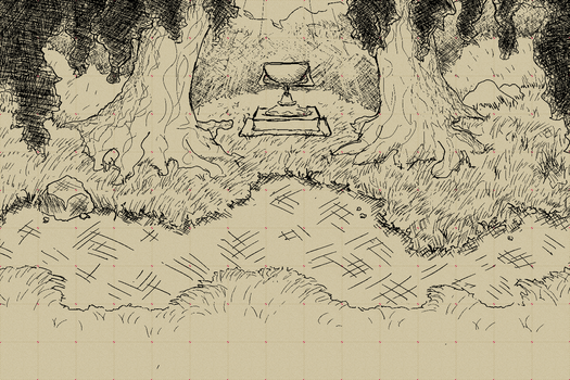 forest with grail thingy by AevaNtsc