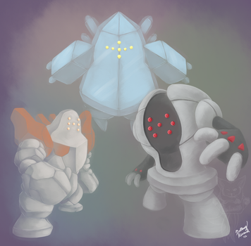 Golem Trio by bluedemon00