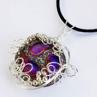 Wire Wrap Button Pendant by Create-A-Pendant