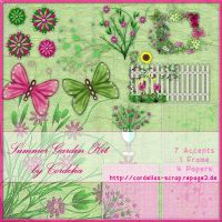 Summer Garden Scrap Kit by ArtandMore
