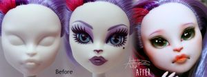 Monster High Catrine DeMew custom repaint by AshGUTZ