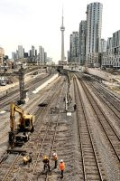 Toronto:  Laying Track by basseca