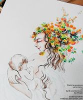 Vegan share wip of mother earth love by Estheryu