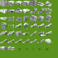 SciFi Vehical Weapon Icon Pack Sprite Sheet by S3dition