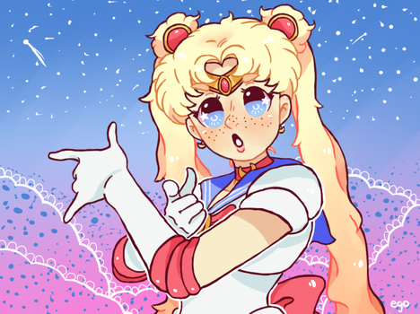 Pretty Guardian Sailor Moon! - Redraw by egodang