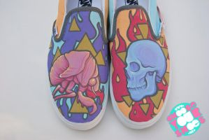 Cicada and Skull Shoes by mburk