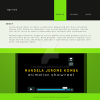 Lime Green 'web layout' by mandelak