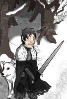 Jon Snow beyond the wall by Monkey19934
