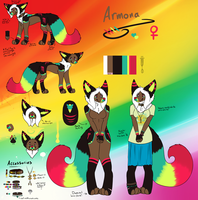 Armona the Fursona (Huge friggen ref sheet) by MonsterMeds