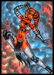 DARTH TALON OVERSIZED SKETCH CARD by AHochrein2010