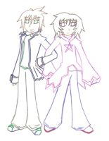 Tristan and Azrael -Line- by RainbowPoof
