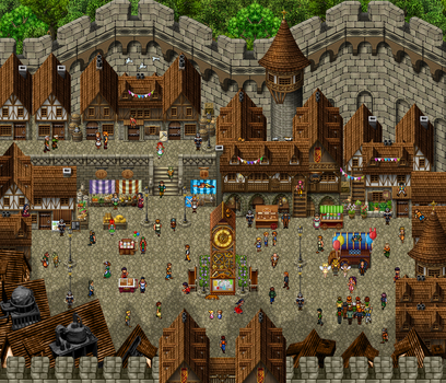 Fleuri Town / Market by playabledreams