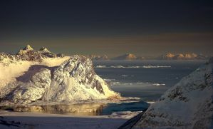 Arctic fjord by steinliland
