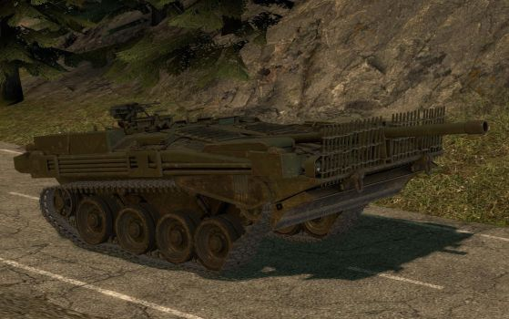 Stridsvagn 103B suspension test 1 by Portugueseotaku