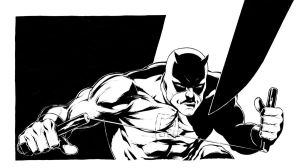 Daredevil inked panel by TimRees