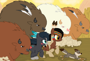 MLP FiM: Run with Buffalo by Bubbletea-Coyote
