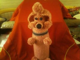 Hand Knit - Retro Vintage Poodle Bottle Cover by magscreates