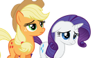 Emotional Applejack and Rarity by xHalesx