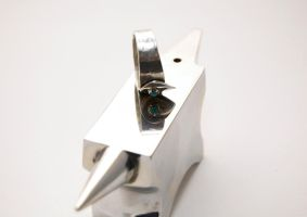 Torquoise Silver Ring Anvil by Freak7109