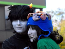 Homestuck Photoshoot AAC'12 - Karkat x Nepeta by FeverishRainbow